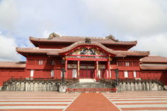 ОКИНАВА - 8-ОЕ ОКТЯБРЯ: Замок в Окинаве, Япония Shuri 8-ого октября 2016 Стоковое Изображение