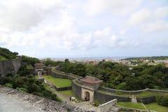 ОКИНАВА - 8-ОЕ ОКТЯБРЯ: Замок в Окинаве, Япония Shuri 8-ого октября 2016 Стоковая Фотография RF