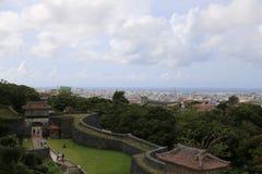 ОКИНАВА - 8-ОЕ ОКТЯБРЯ: Замок в Окинаве, Япония Shuri 8-ого октября 2016 Стоковые Фото