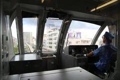 ОКИНАВА - 8-ОЕ ОКТЯБРЯ: Монорельс в Окинаве, Япония 8-ого октября 2016 Стоковое Изображение