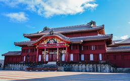 Окинава, Япония на замке Shuri стоковые изображения