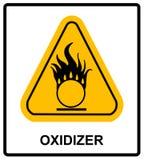 Окисляя предупреждающий символ иллюстрация вектора