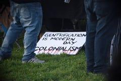 Окленд анти- Gentrification март стоковое изображение rf
