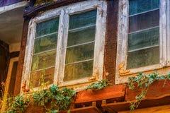 Окна античных marodes деревянные Стоковые Фото