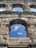 окна арены Стоковая Фотография