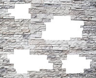 окна белизны каменной стены Стоковые Изображения