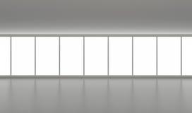 окна большой чистой пустой залы нутряные широкие Стоковое Фото