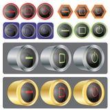 окна вектора кнопки установленные Стоковая Фотография