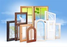 окна выставочного зала Стоковые Фотографии RF