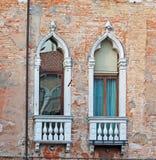 2 окна в Венеции Стоковые Фото