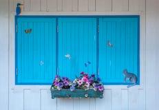 окна деревянные Стоковые Фотографии RF