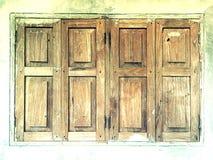 окна деревянные Стоковые Фото