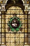 окна запятнанные католической церковью Стоковое Изображение