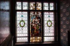 окна запятнанные стеклом Стоковое фото RF