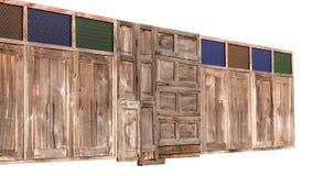 Окна изолята старые деревянные Стоковые Изображения