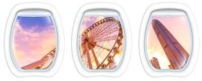 Окна иллюминатора на колесе замечания Стоковые Изображения