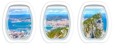 Окна иллюминатора на утесе Гибралтара Стоковое Изображение