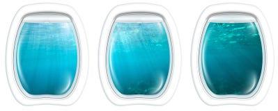 Окна иллюминатора на underwater Стоковое Изображение