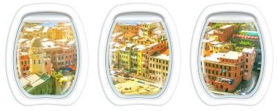 Окна иллюминатора на Vernazza Стоковое Изображение RF