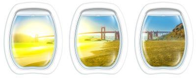 Окна иллюминатора Сан-Франциско Стоковое Фото
