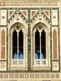 окна колокольни di giotto Стоковые Изображения RF