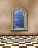 окна комнаты grunge нутряные старые иллюстрация штока