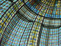 окна красивейшего цвета стеклянные запятнанные paris Стоковые Изображения RF
