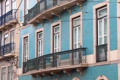 Окна Лиссабона стоковое фото rf