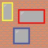 Окна на стене Стоковые Фотографии RF