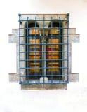 Окна на Tossa de повреждают старый городок Vila Vella в Косте Brava камня masonry Каталонии Стоковая Фотография RF