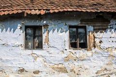 окна дома старые Стоковое Изображение