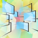 окна предпосылки голубые покрашенные Бесплатная Иллюстрация