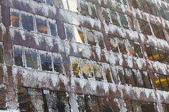 окна снежка льда Стоковое Изображение