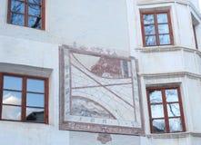 4 окна с покрашенный Стоковые Фото