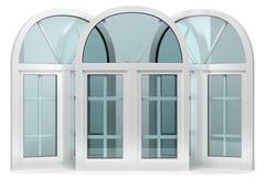 3 окна с сводами иллюстрация вектора