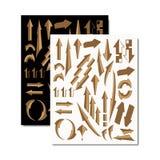 окна установленных символов eps10 абстрактной стрелки различные Стоковое Изображение RF