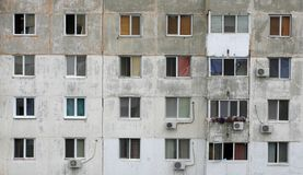 окна фасада Стоковые Фотографии RF