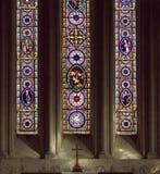 окна церков запятнанные стеклом Стоковое фото RF
