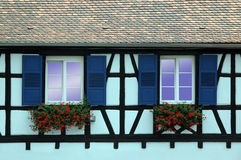 окна alsace стоковая фотография
