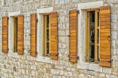 окна wat Таиланда виска phra kaew bangkok Будды изумрудные деревянные Стоковые Изображения RF