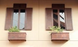 окна wat Таиланда виска phra kaew bangkok Будды изумрудные деревянные Стоковые Изображения