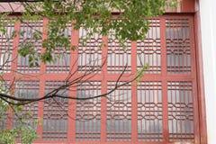 Окна Woodcarving Стоковое Изображение RF