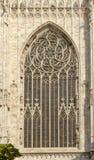 Окно апсиды собора, милан, Италия Стоковые Фото