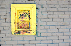 окно белизны стены кирпича старое Стоковое Фото