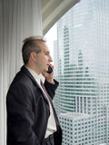 окно бизнесмена Стоковое Фото