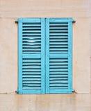 Окно бирюзы с штарками Стоковые Изображения RF