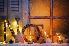 окно версии растра иллюстрации рождества стоковые фото