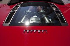 Окно двигателя задней части Феррари Стоковое фото RF