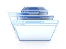 окно выбранное браузером иллюстрация вектора