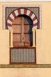 Окно в аравийском типе стоковая фотография